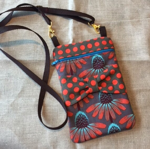 Coneflower Crossbody Bag with Bow