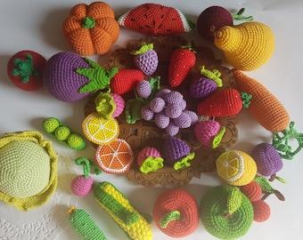 27 Stück Spielzeug Küche Häkeln Obst Gemüse Spielen Essen Etsy