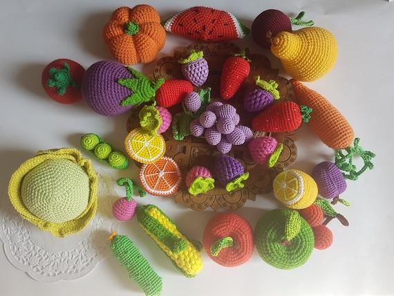 Große 60 Häkeln Obst Und Gemüse Spielzeug Küche Spielen Essen Etsy