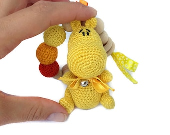 Cute toy Baby toy Rattle Teething toy Teether New baby gift Baby teether Baby shower gift Unique baby gift Toddler toy Baby teething toy