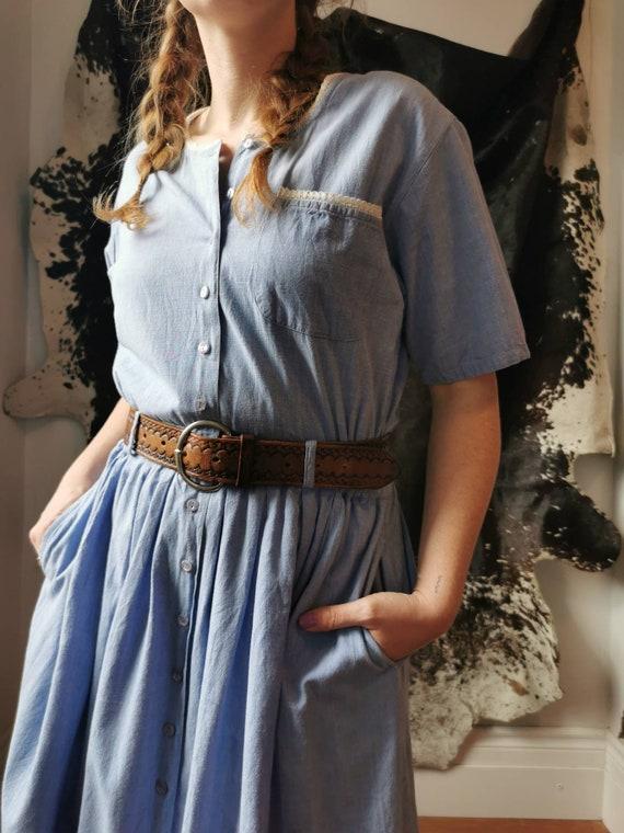 Cotton Chambray Dress // M