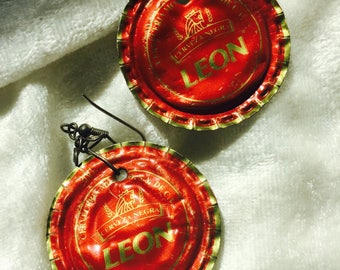 CORONA CAPS Mexican Beer Cap Earrings