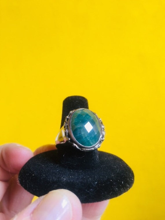 GREEN GIANT - Emerald and Sterling Silver Stateme… - image 2