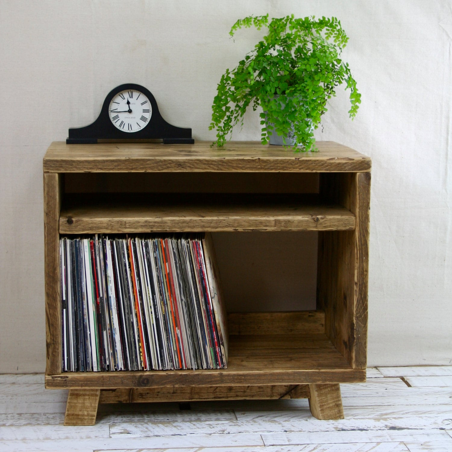 Reclaimed Flooring California: Reclaimed Wood TV Stand Record Player Vinyl Unit Wooden
