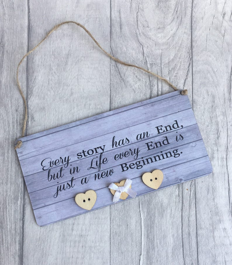 Every Story Has An End Vintage Style Handmade Quote Plaque Etsy