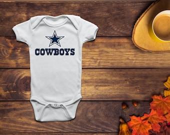Baby bodysuit Newest fan Dallas Cowboys One Piece jersey personalized
