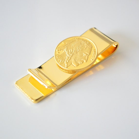 TLS $20 Liberty Eagle Coin Money Clip Wallet Clips 24k Gold Plated Money Holder