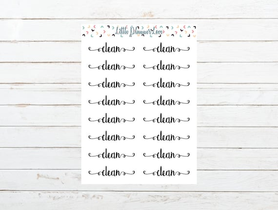 clean word planner stickers for all planners etsy