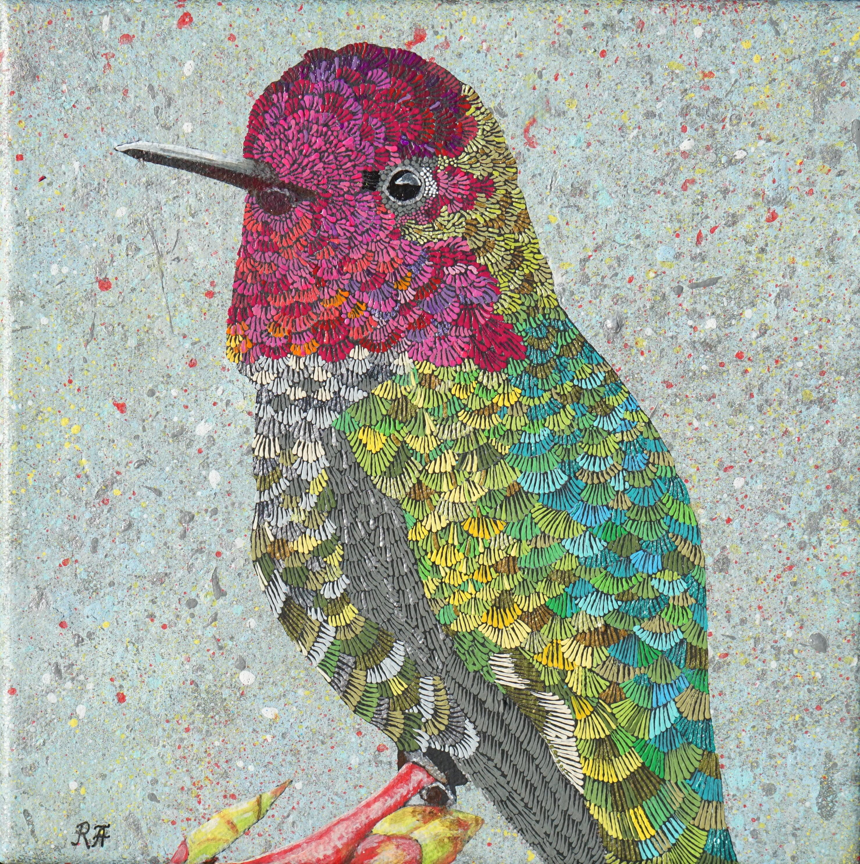 Kolibri Original Acryl-Gemälde auf Leinwand | Etsy