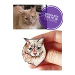Custom Cat Pin / Custom Cat Necklace / Custom Pet Portrait / Cat Portrait Brooch / Custom Stained glass pet portrait brooch /Cats Lover Gift