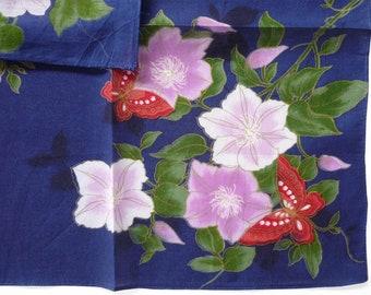 UNITED COLORS of BENETTON Vintage Handkerchief 17 x 17 Made in Japan Birthday Gift Floral Handkerchief Women Handkerchief