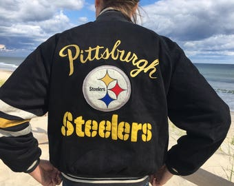 Vintage Pittsburgh Steelers jacket Mirage NFL 1995 bomber jacket 6c9b898fb
