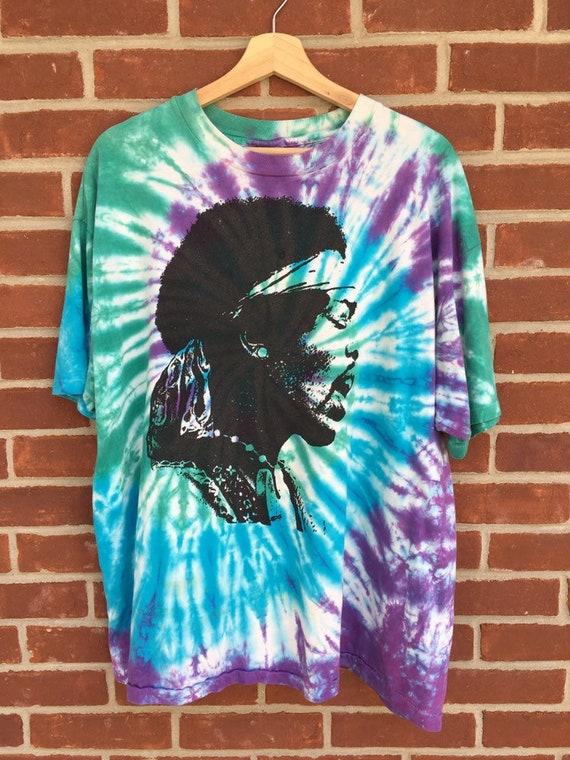 Vintage tie dye Jimi Hendrix T shirt 80s / 90s sin
