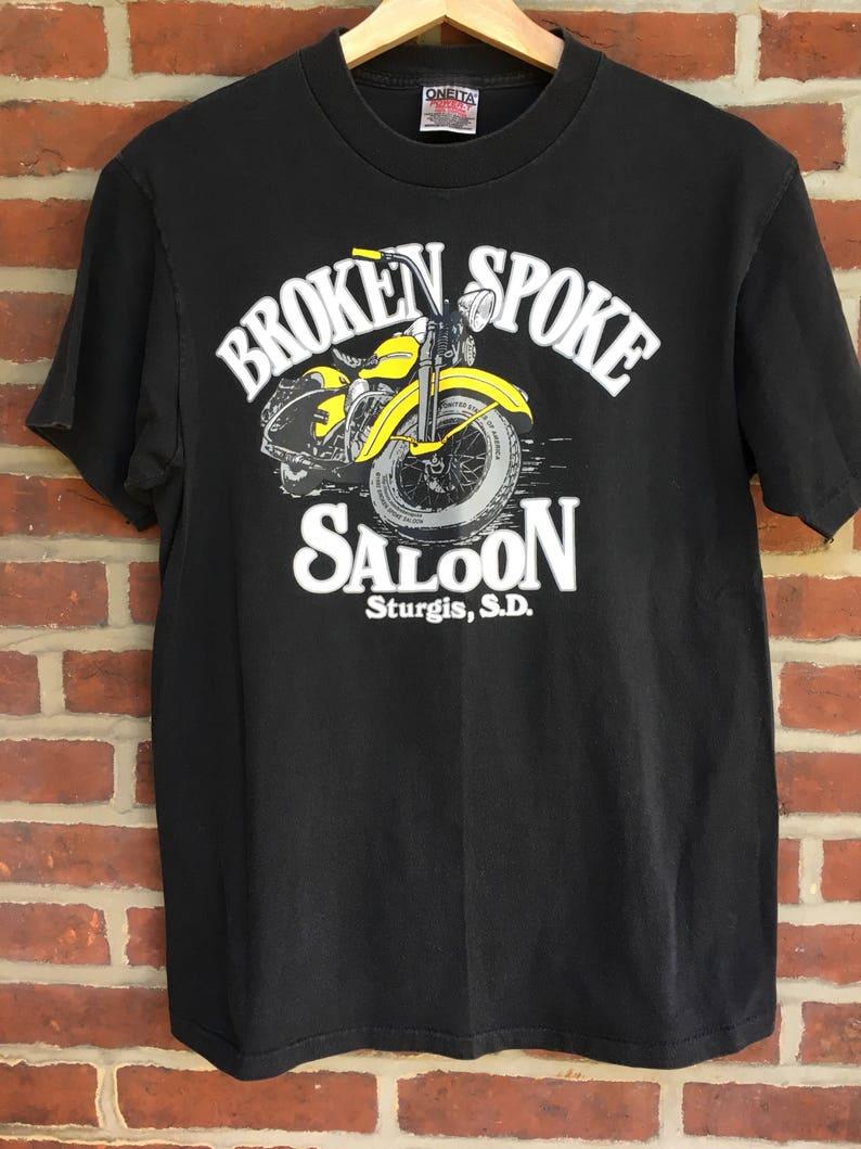 Vintage Sturgis motor cycle rally t shirt broken spoke saloon 1992 Harley  Davidson