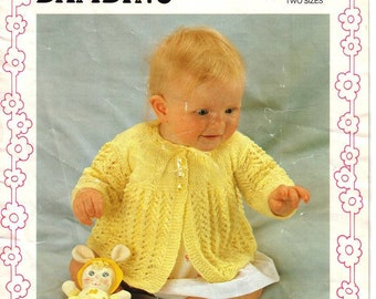PDF Vintage Patterns Robin Bambino 4ply Unisex Sweaters Chest 18-22