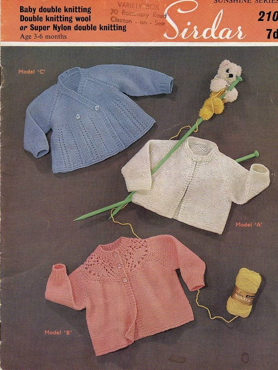 e1b5e8eeb authentic c81d0 2b50f vintage knitting pattern 4 baby matinee ...