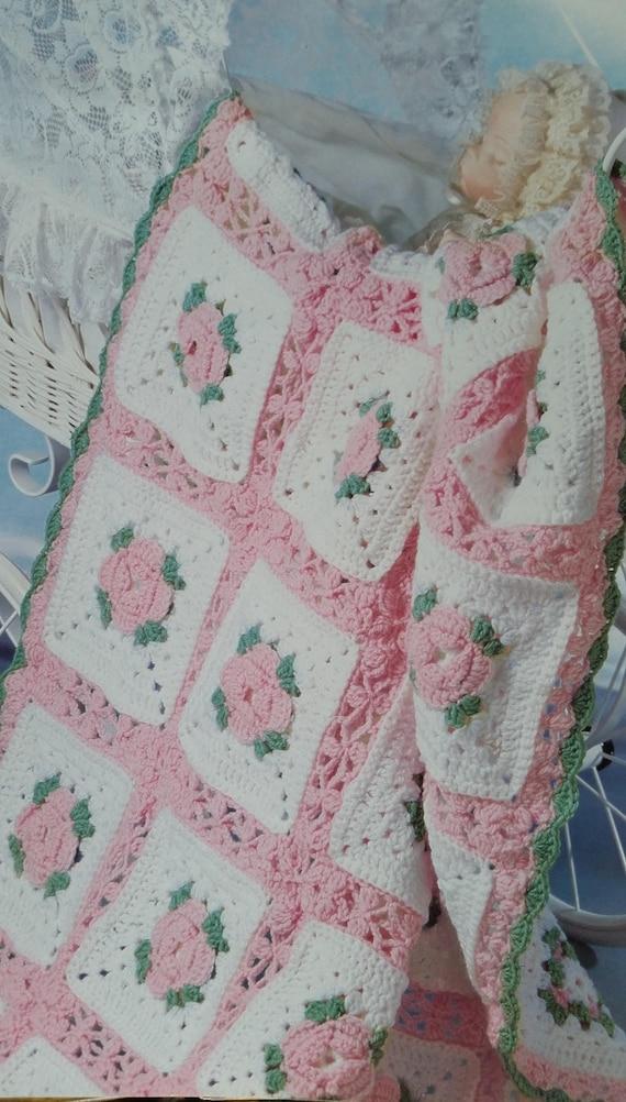 Vintage Crochet Sweet Baby Afghan Blanket Instant Download Etsy