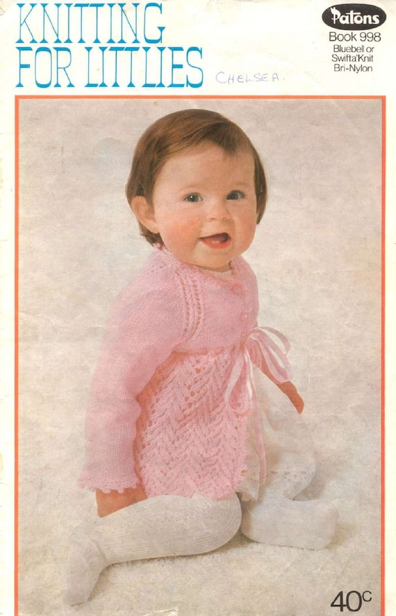 Vintage Baby Knits Patons 998 Knitting For Littlies Book Of Etsy