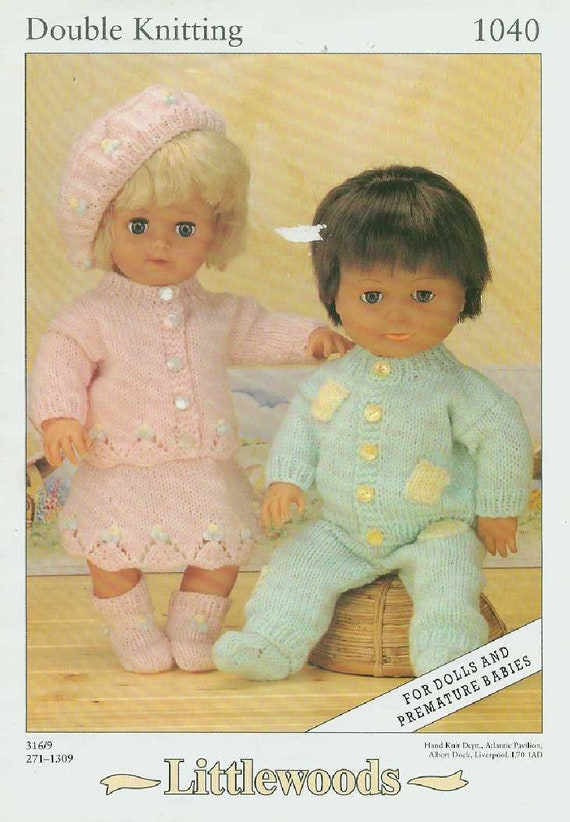 Knit Doll Clothes And Premature Babies Girl And Boy Outfit Etsy