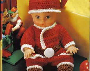 Vintage Crochet Pattern Baby Doll Santa Claus Suit pattern instant download crochet pattern