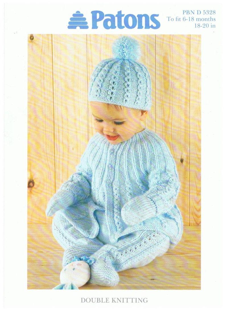 0d9a18ae51af Vintage Patons Knit Baby Pram Set instant download knitting