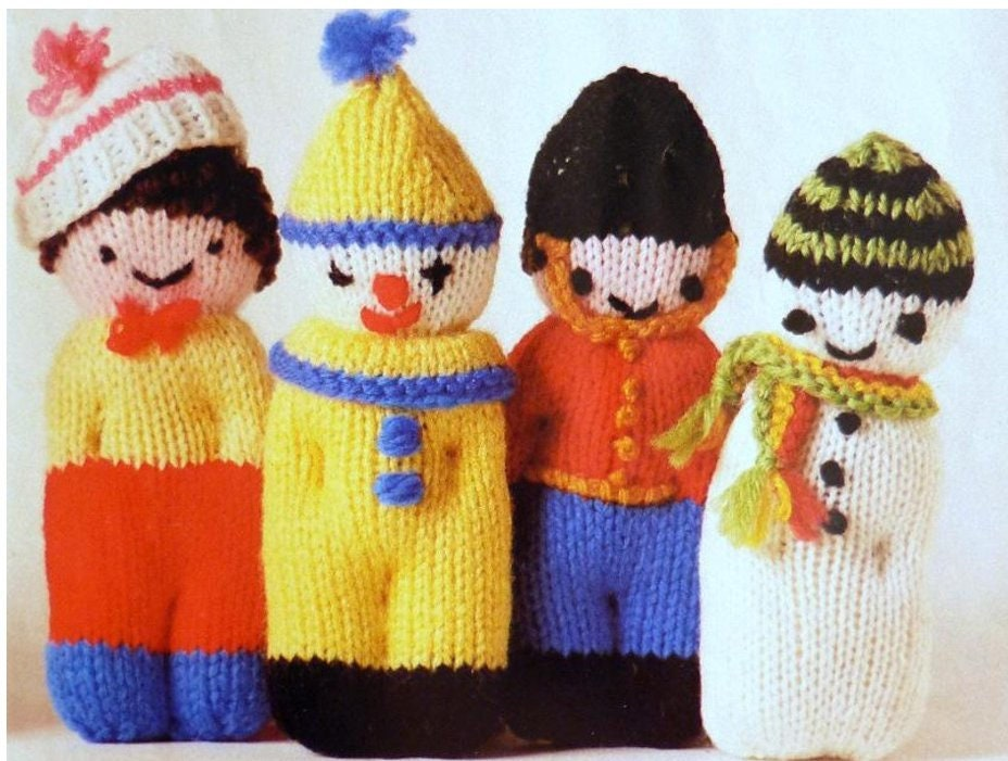 Vintage Knitting Character Comfort Dolls To Knit Instant Etsy