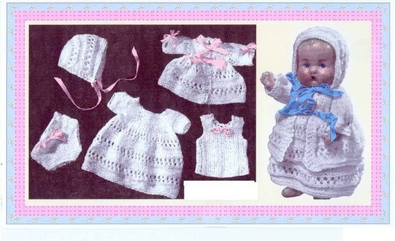 Vintage Doll Clothes To Fit 9 Inch Baby Dolls Layette Set Etsy