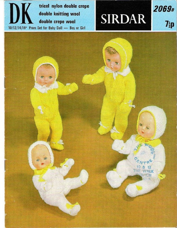 ad3803899593 Vintage 2069B Pram Set Doll Clothes to fit various size baby
