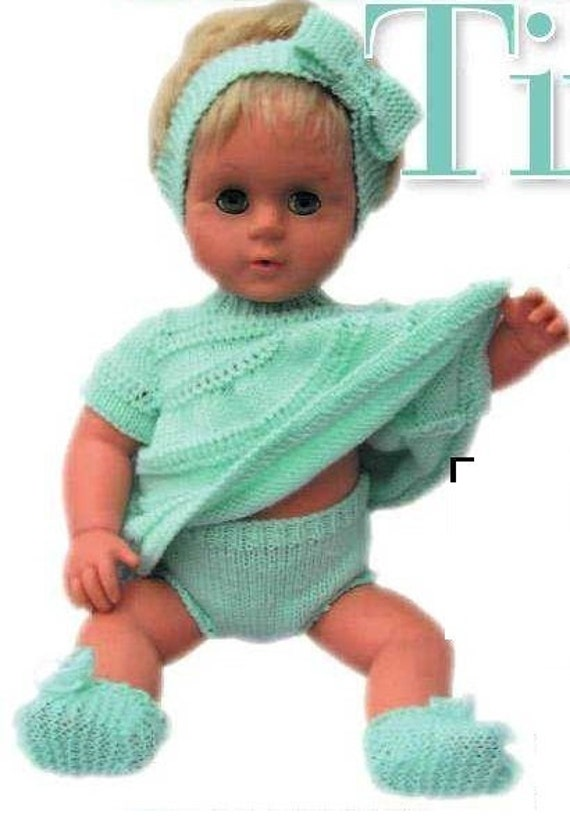 Knitting Pattern For Tiny Tears Doll Instant Download Knitting Etsy