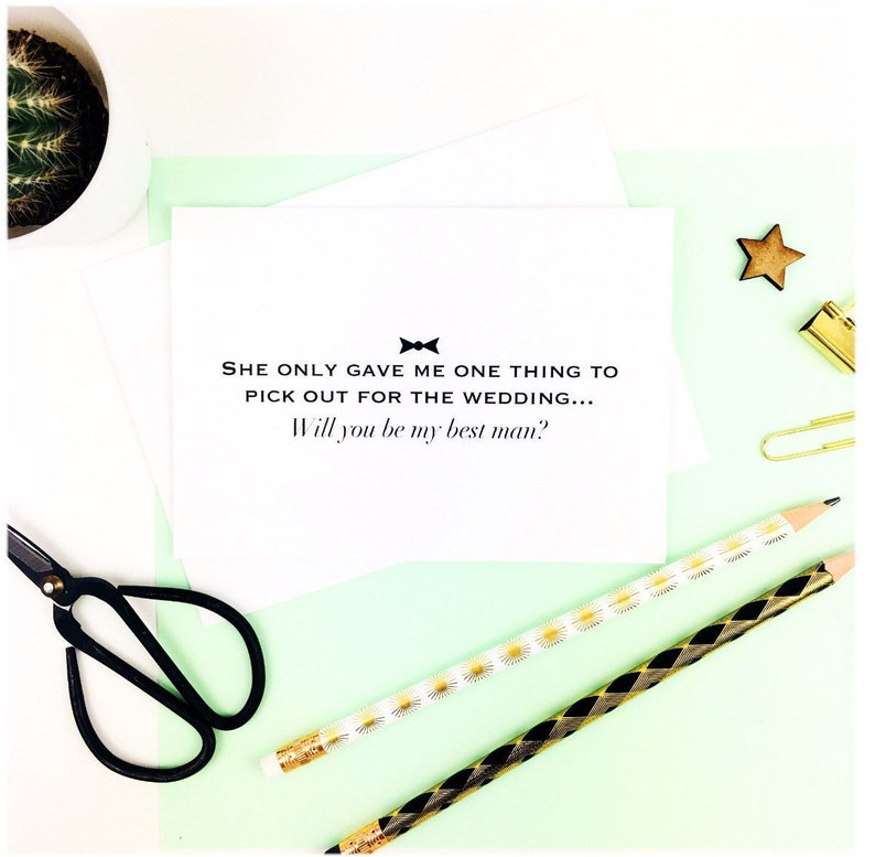 1 greeting card with envelope Proposal Card Will You Be My Usher Card