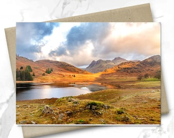 Greeting Card | Blea Tarn | Langdale Pikes | UK Lake District | Blank Card | Birthday Card | Greeting Card | Christmas Card