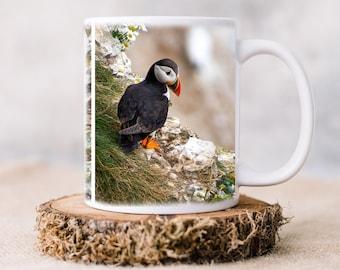 PUFFINS PHOTO MUG | Ceramic Mug | Tea and Coffee Mug | Original Print | Puffins of Bempton Cliffs