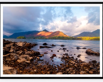Derwentwater and Catbells, UK Lake District Photographic Print