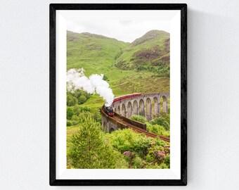 Hogwarts Express  | Jacobite Steam Train | Harry Potter| Glenfinnan Viaduct | Scottish Highlands | Original Photograph