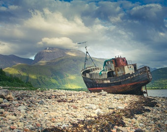 The Ben and The Boat | Fort William | Wall Art | Colour Print | Scotland Photographic Print