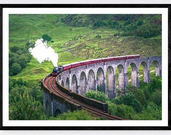 Glenfinnan Viaduct | Jacobite Steam Train | Harry Potter| Hogwarts Express | Colour Print | Original Photograph
