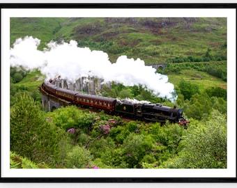 Jacobite Steam Train | Glenfinnan Viaduct| Harry Potter| Hogwarts Express | Colour Print | Scotland Photographic Print