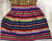 Sequin Serape mexican dress
