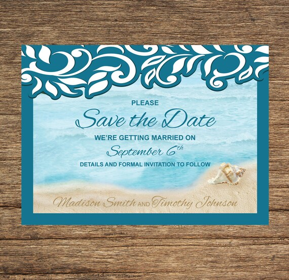 BCH-31-STD-Digital Download Save The Date Beach