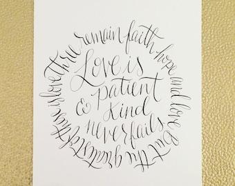 Circle Print: Love is