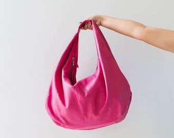 00e212b4e700 PINK - Large hobo Bag