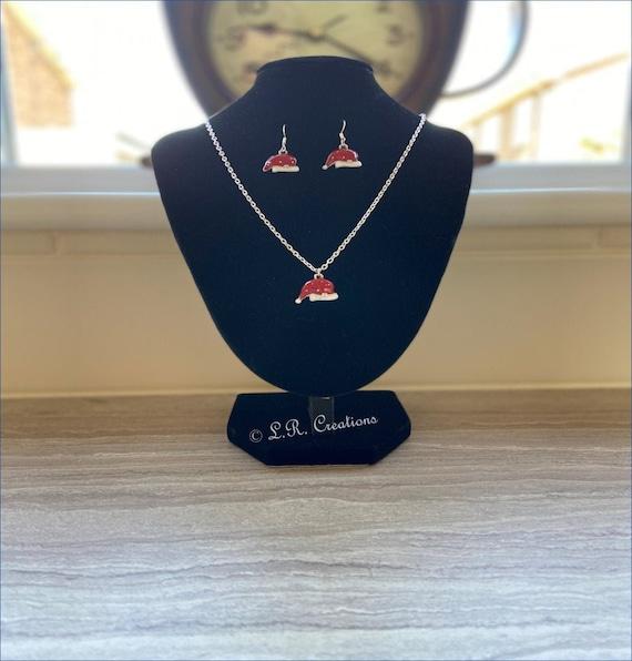 Christmas Charm bracelet silver chain Stocking filler gift idea santa jewellery