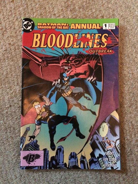 1993 Bloodlines Outbreak Shadow of the Bat Annual No.1 Batman
