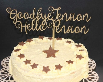 Well Miss You Cake Topper Wood Custom Personalised Name and is Age Solid Wood Luxury Premium Topper Keepsake