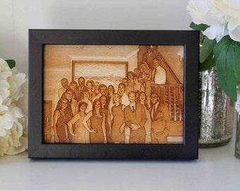 Custom Wood Photo Engraving - Personalised Photo Engraving