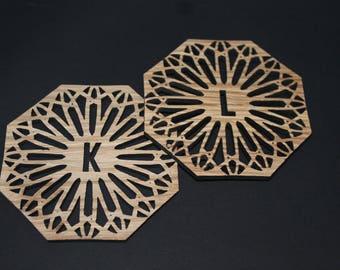 Laser Cut Coasters - Personalised