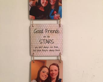 Good Friends Are Like Stars Photo Gift Friendship Best Friend Birthday