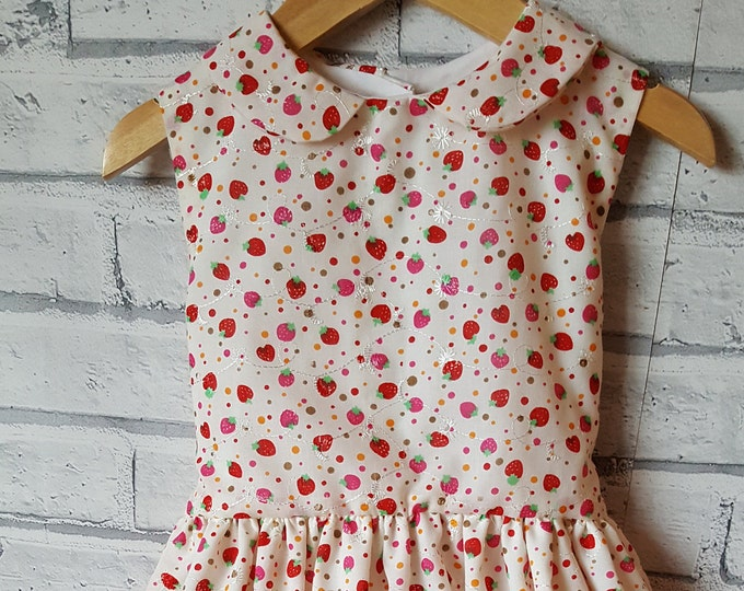 Party dress, party dress,  strawberry dress,  wedding dress, flowergirl dress, birthday dress, party dress, special event dress,