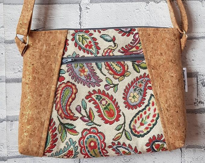 Bag, cork bag, ladies bag, shoulder bag, crossbody bag, ladies cork bag, handmade bag, Poppy Willow bag
