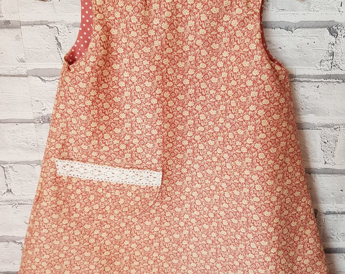 Girls' reversible dress